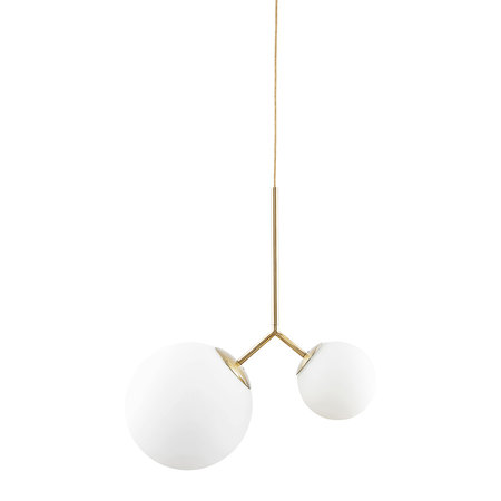House Doctor - Twice Ceiling Lamp - White/Brass