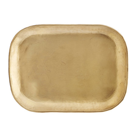 House Doctor - Rich Brass Tray - Large
