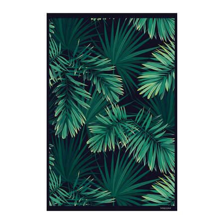 acheter hibernica tapis de sol en vinyle jungle noir vert amara. Black Bedroom Furniture Sets. Home Design Ideas