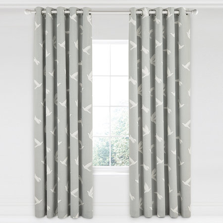 Sanderson - Paper Doves Lined Curtains - Mineral - 168x229cm