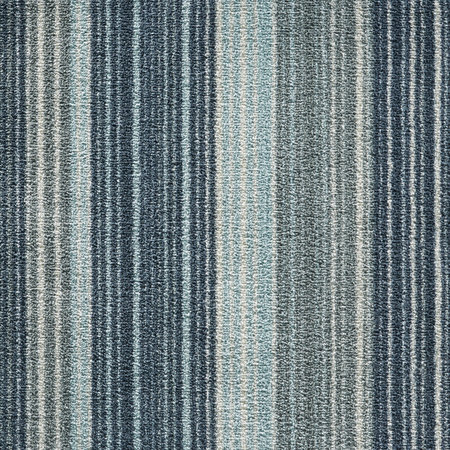 Hug Rug - Stripe Washable Recycled Door Mat - Blue - 65x85cm