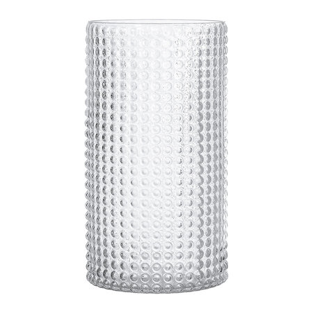 Buy Bloomingville Dotted Cylindrical Glass Vase Clear 30cm Amara