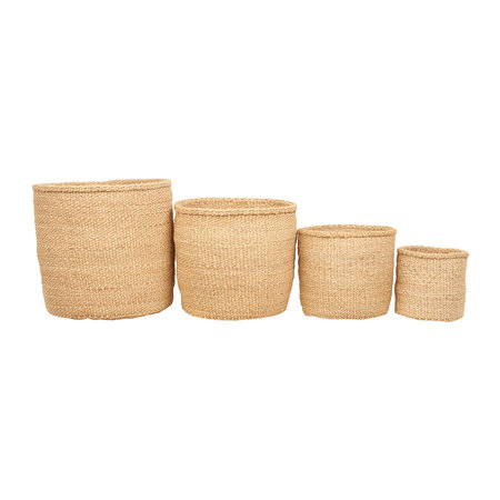 The Basket Room - Linear Fusion Utulivu Hand Woven Basket - L