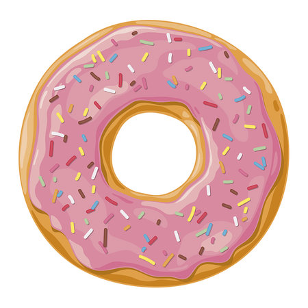 PODEVACHE - Ring Donut Vinyl Placemat - Pink