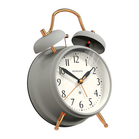 Newgate Clocks - Wecker Brick Lane - Grau/Kupfer