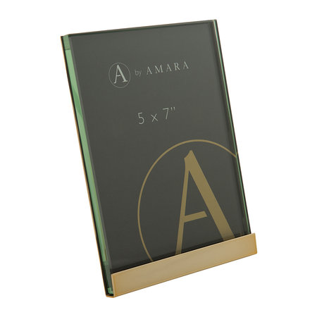 A by AMARA - Gold Block Plated Steel Photo Frame - 5x7""