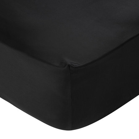 A by AMARA - Egyptian Cotton Fitted Sheet - Black - King