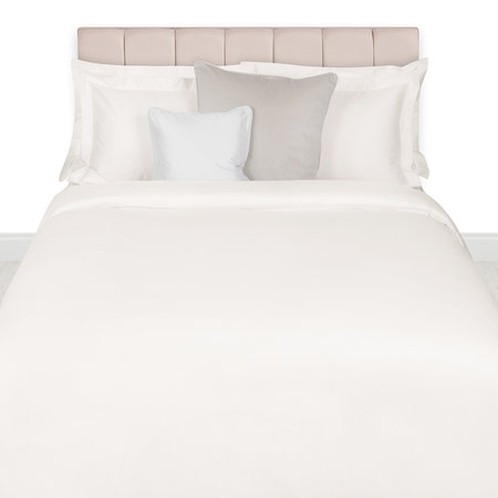 A by AMARA - 500 Thread Count Sateen Duvet Cover - Ivory - Super King