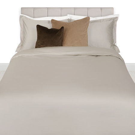 A by Amara - 500 Thread Count Sateen Quilt Cover - Taupe - Double