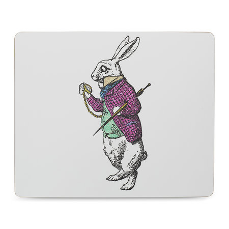 Mrs Moore's Vintage Store - Alice In Wonderland Placemat - White Rabbit