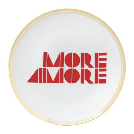 Bitossi Home - Funky Table Plate - More Amore - 17cm
