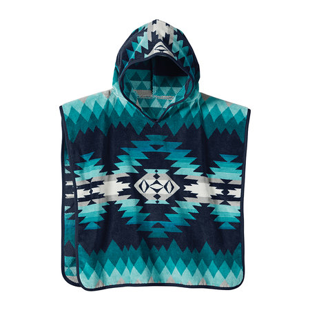Pendleton - Jacquard Hooded Children's Towel - Papago Park Turquoise