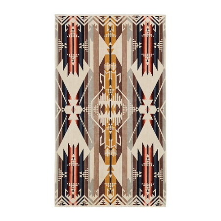 Pendleton - Oversized Jacquard Beach Towel - White Sands Tan