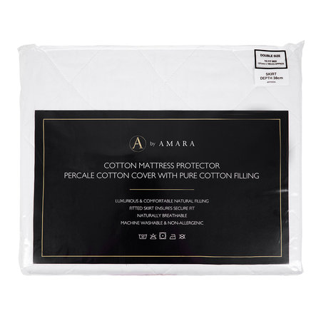 A by AMARA - Cotton Filled Mattress Protector - Double
