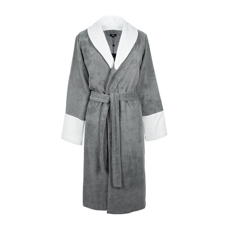 Hugo Boss - Couture Velvet Bathrobe - Gray