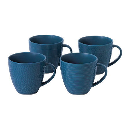Royal Doulton - Gordon Ramsay Maze Grill Mugs - Set of 4 - Blue