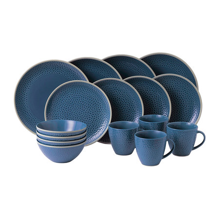 Royal Doulton - Gordon Ramsay Maze Grill Tableware Set - 16 Piece - Hammer Blue