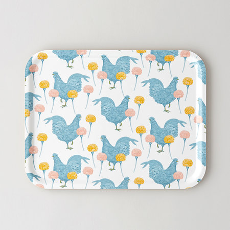 Thornback & Peel - Chicken & Carnation Tray - Large