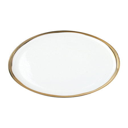 Canvas Home - Dauville Oval Platter - Gold Rim - Small