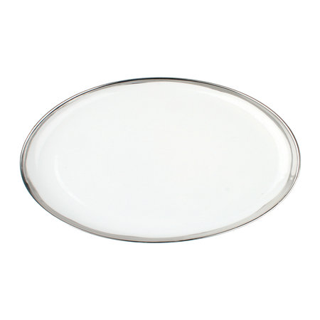 Canvas Home - Dauville Oval Platter - Platinum Rim - Small
