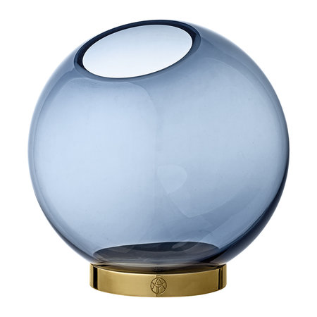AYTM - Globe Vase - Navy & Gold - Medium