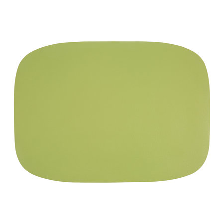 A by Amara - Vegan Leather Placemat - Apple Green