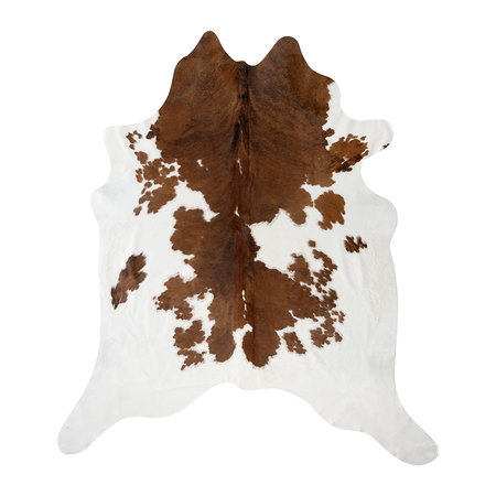 A by AMARA - Spotted Cowhide Rug - Brown/White