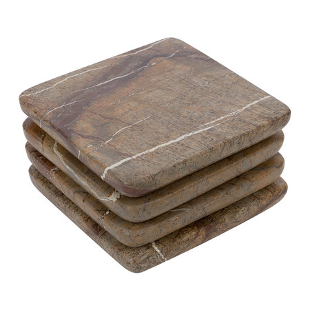 Retreat - Natural Marble Coasters - Set of 4