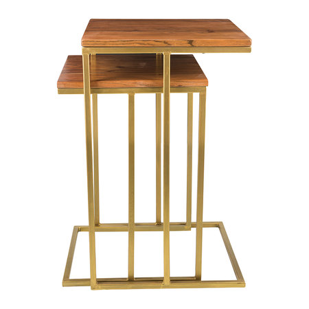 A by AMARA - Wooden Nesting Side Tables - Square - Set of 2