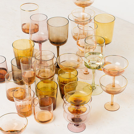 Bitossi Home - Amber/Pink Tumblers - Set of 6