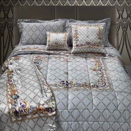 Roberto Cavalli - New Spider Bed Set - Gray - Super King