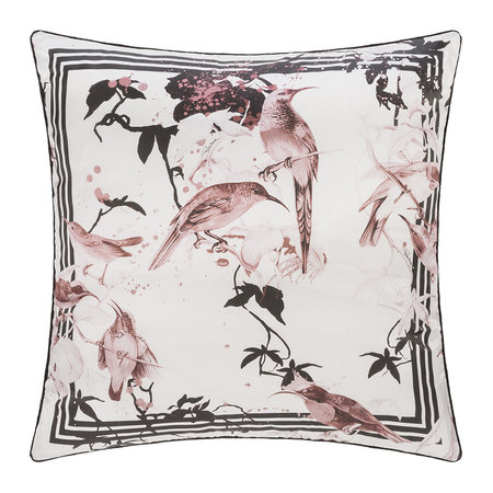 Roberto Cavalli - Bird Ramage Silk Pillow - Rose - 60x60cm