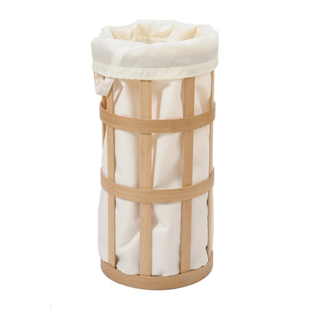 Wireworks - Cage Laundry Basket - Soft White/Oak