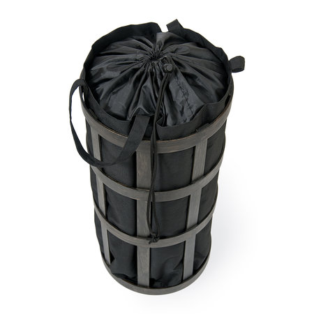 Wireworks - Cage Laundry Basket - Black/Dark Oak