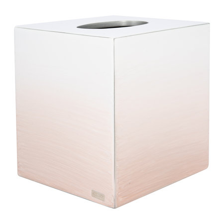 Mike + Ally - Ombre Tissue Box - Pink/Silver