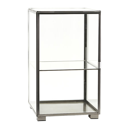 House Doctor - Glass Cabinet - Zinc