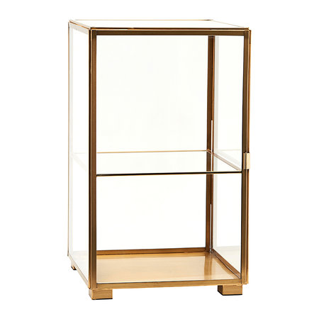 Buy House Doctor Glass Cabinet Brass Amara