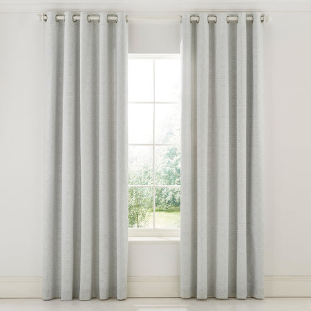 Sanderson - Chiswick Grove Lined Curtains - Silver - 168x229cm