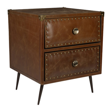 Luxe - Leather Studded Drawers - Tan