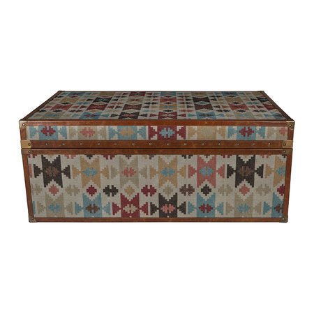 A by AMARA - Aztec Leather Chest - Large