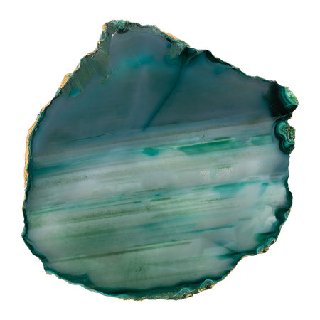 Luxe - Agate Coasters - Set of 4 - Green