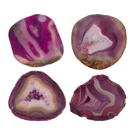 A by AMARA - Agate Coasters - Set of 4 - Pink