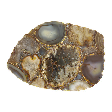 Luxe - Agate Platter - Brown