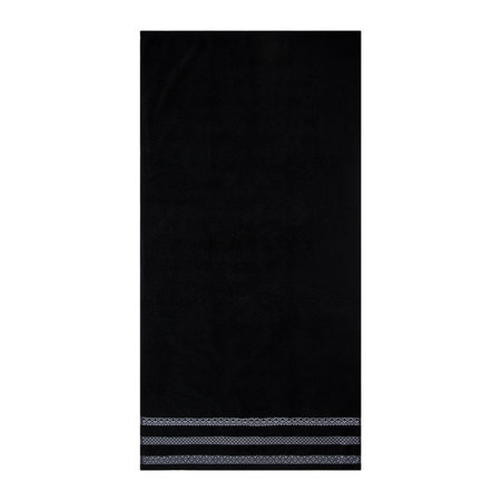 A by AMARA - Black Stripe Towel - Bath Towel