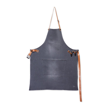 DutchDeluxes - BBQ Style Denim Apron - Washed Gray