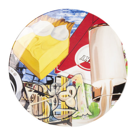 Third Drawer Down - David Salle Yellow Fellow Plate