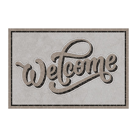 BEAUMONT - 5th Avenue Welcome Vinyl Door Mat - Grey