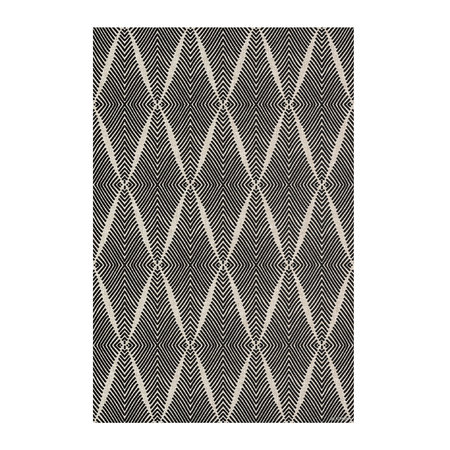 BEAUMONT - Diamond Vinyl Floor Mat - Black - Small