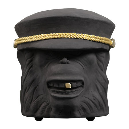 Garden Glory - Terracotta Monkey Face Plant Pot - Black