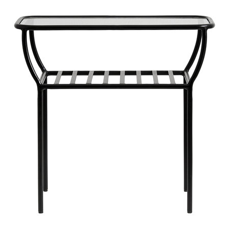 Nordal - Glass Side Table - Black